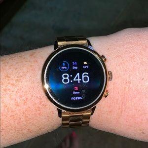 Fossil Gen 4 Smartwatch, Rosegold.